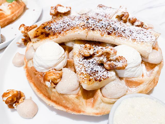 「自家製ピーナッツバターとバナナのキャラメリゼ」(税抜1,480円)