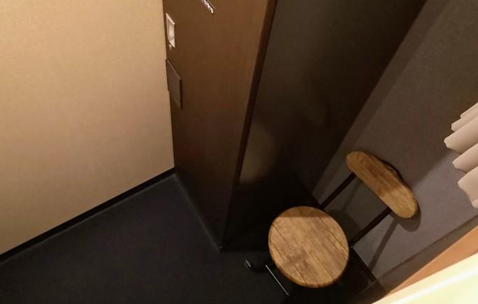 HOTEL THE GATE KUMAMOTO シングル個室上段ベッドからの眺め