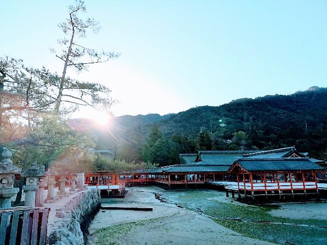朝の嚴島神社