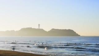 神奈川県立湘南海岸公園前の海