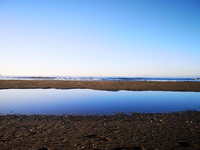 神奈川県立湘南海岸公園からの海の眺め