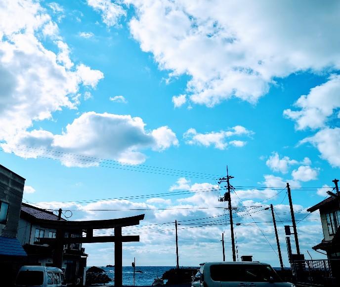 日御碕神社裏手の海