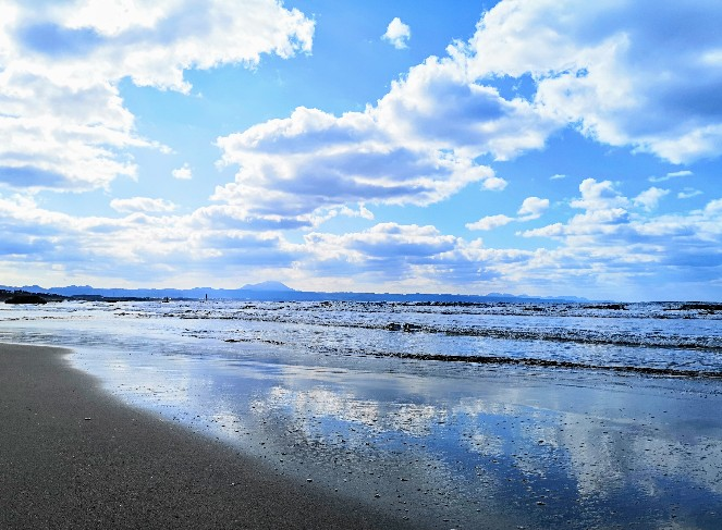 稲佐の浜の海