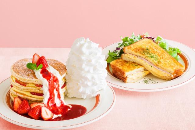 いちごのミルフィーユパンケーキ