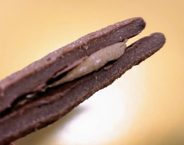京都御所南チョコレート研究所「京都さんかくショコラサンド」断面