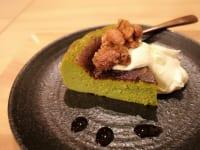 metcha matcha & SALON 梅田「焦がし黒糖クルミ抹茶バスクチーズケーキ」