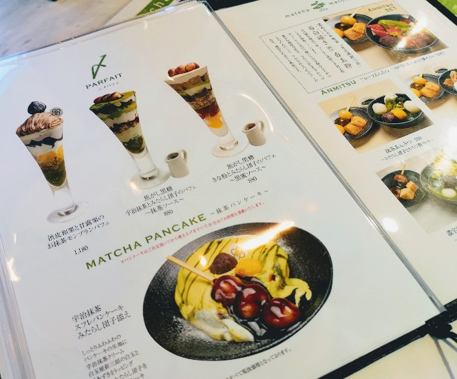 metcha matcha & SALON 梅田 パフェメニュー