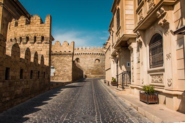 アゼルバイジャンの首都バクー旧市街