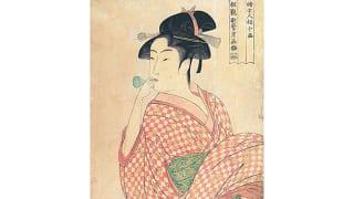 愛知県美術館「大浮世絵展」婦女人相十品 ポペンを吹く娘(喜多川歌麿)