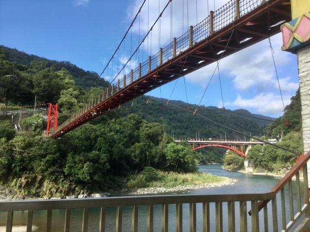 烏來の吊り橋