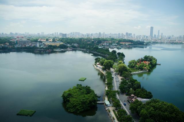 ベトナム・ハノイのタイ湖