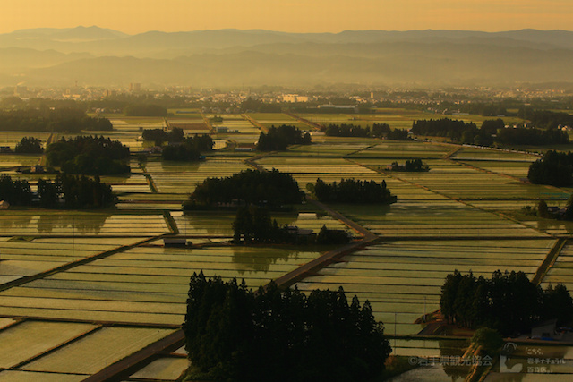 花巻市 円万寺からの眺望