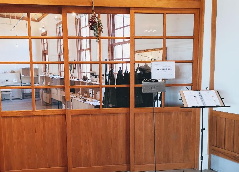 京終駅舎カフェハテノミドリ外観