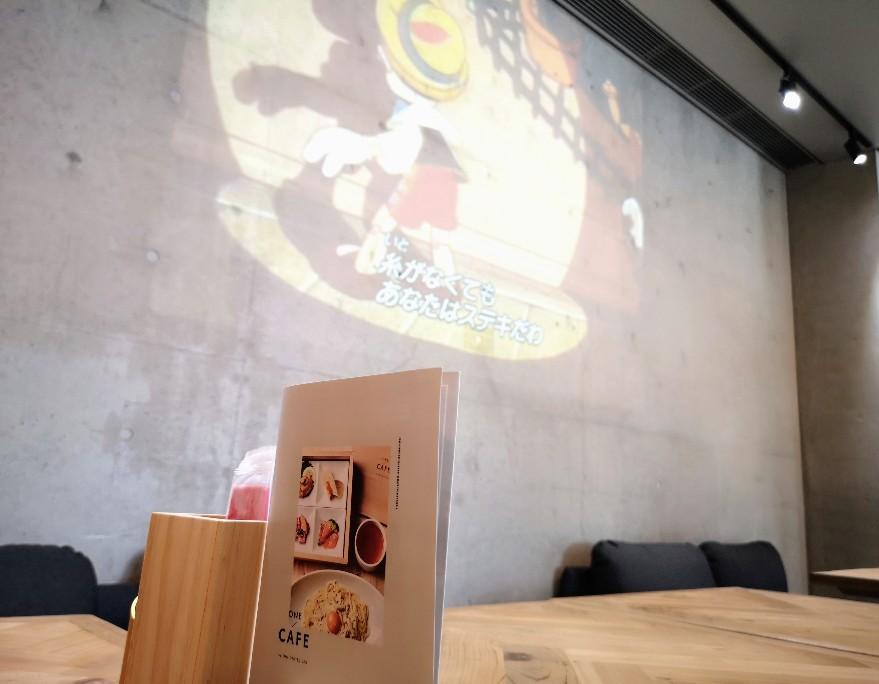 ONE CAFÉ! 店内シアター映像