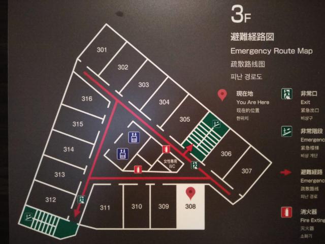 アスティルホテル十三プレシャス館内図