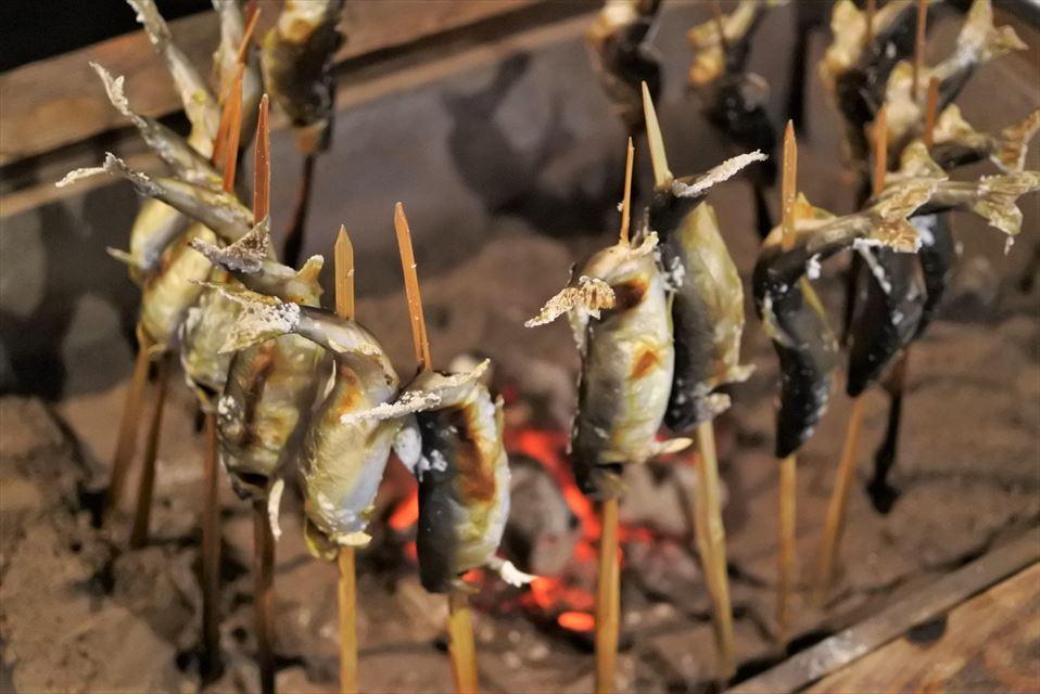 湯ヶ島たつた 鮎の塩焼き