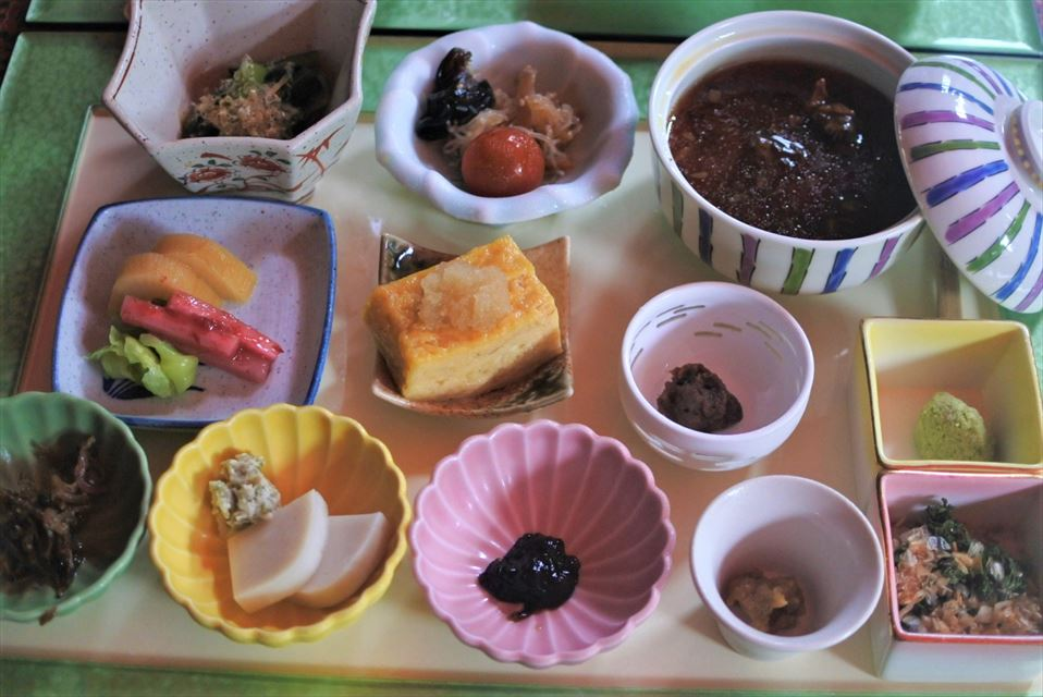 湯ヶ島たつた 朝食