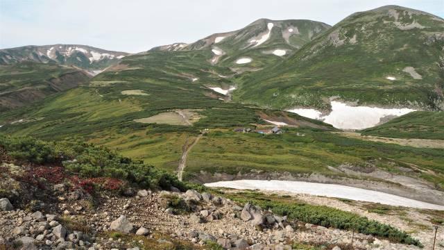 黒岳石室への道