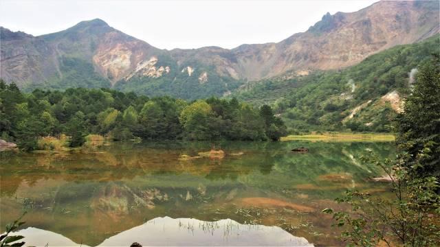 銅沼と磐梯山