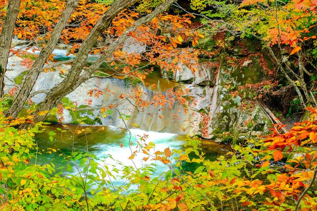 照葉峡 翡翠の滝