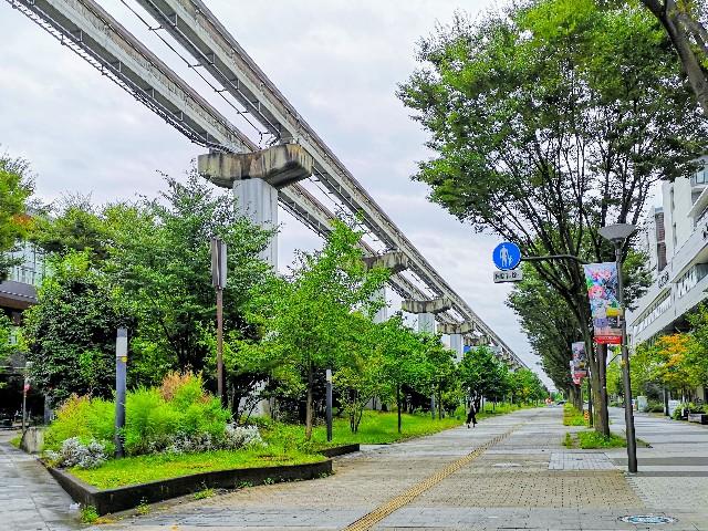東京さんぽ・立川 多摩モノレール高架下