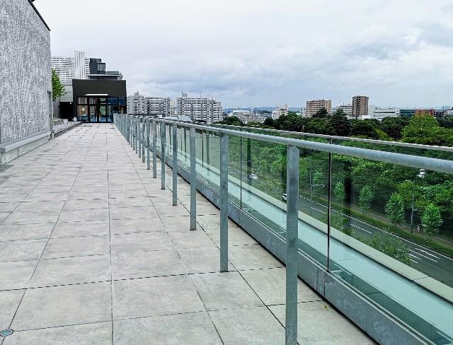 東京さんぽ・立川 グリーンスプリングス立川ステージガーデンのスカイデッキからの眺め