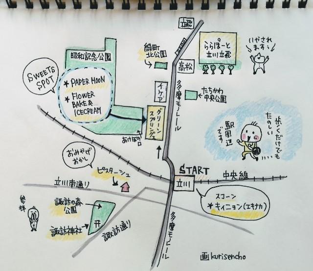東京さんぽ・立川マップ