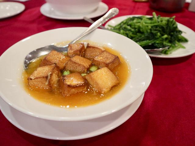 豆腐のあんかけと季節の野菜