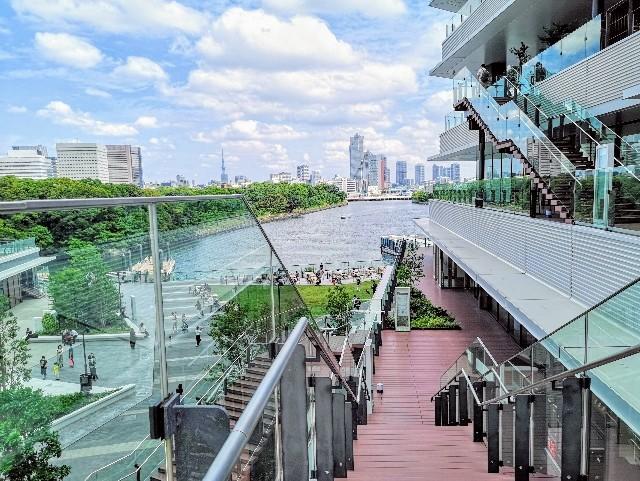 東京都・アトレ竹芝の外階段からの眺め