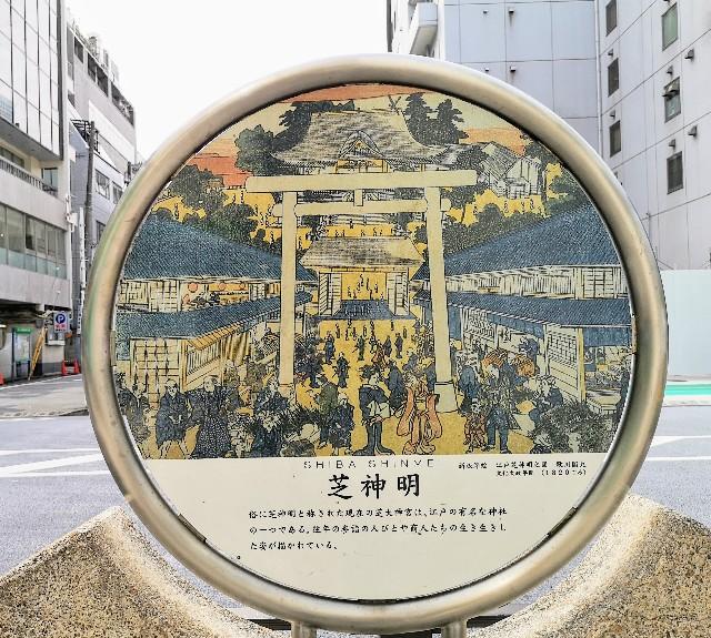 浮世絵師歌川国丸の「江戸芝明神之図」
