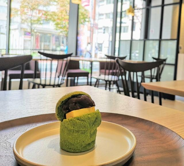 東京都・CHAYA1899東京・1899抹茶パン(あんバター)