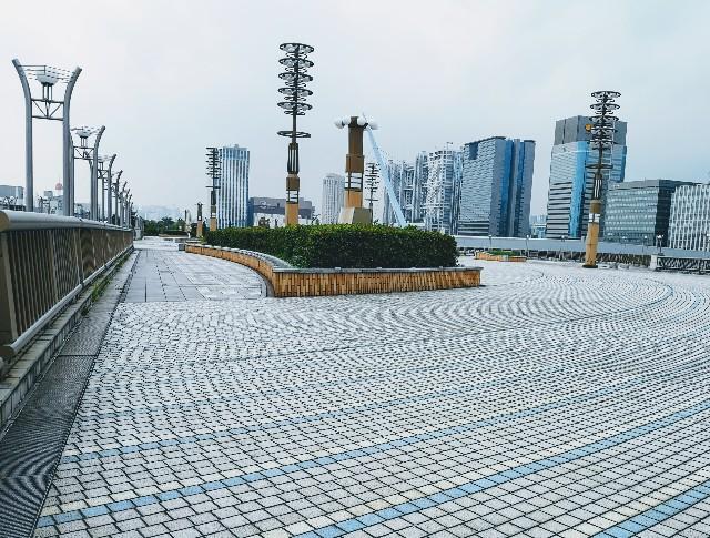 東京都お台場・「夢の大橋」からの眺め