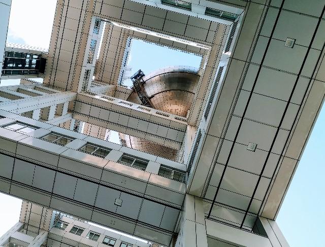東京都お台場・「フジテレビ」7階から、はちたまの眺め