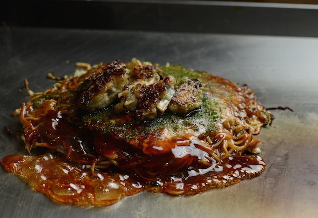 かき(牡蠣)入りお好み焼き