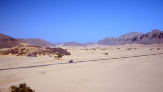 Roadway in the Algerian Sahara.