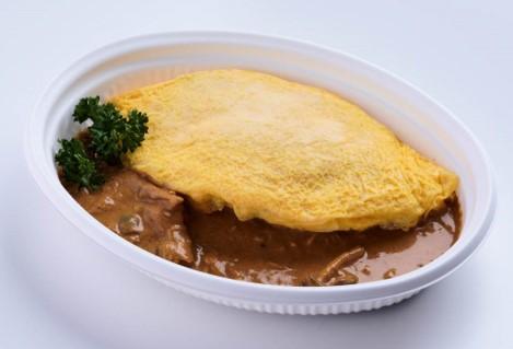 〈西洋銀座〉シェフ手作りのオムライス松茸入りいろいろきのこのソース