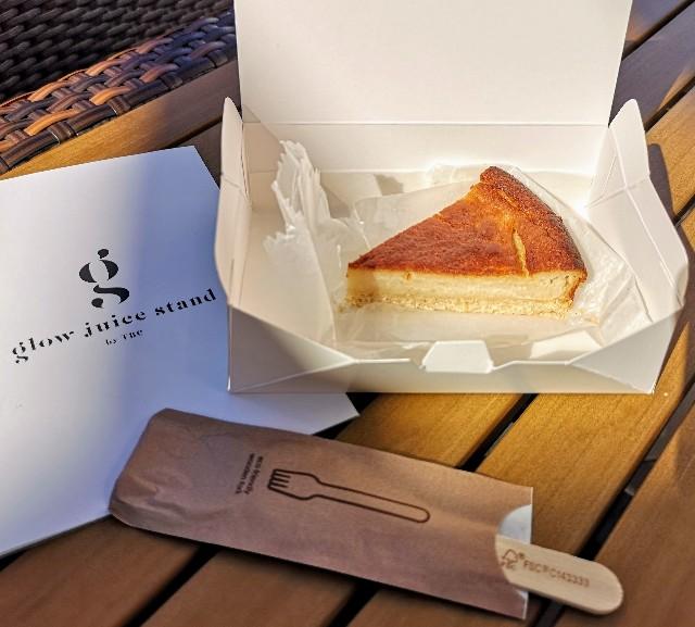 東京都・有明ガーデン「glow juice stand」酒粕ヴィーガンチーズケーキ