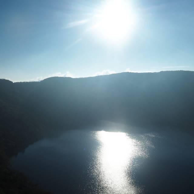 朝日と大浪池