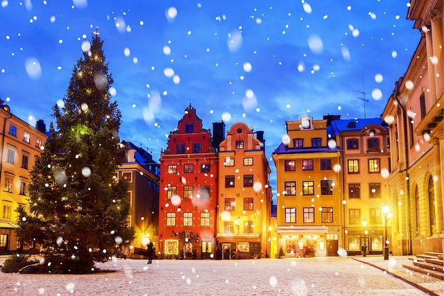 スウェーデン・ストックホルムの雪景色