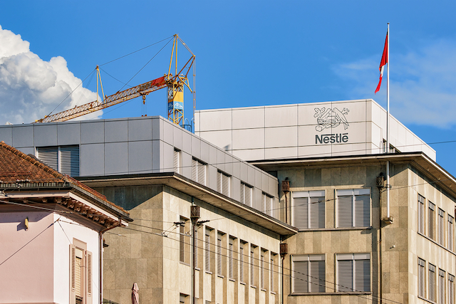 スイスのヴェヴェイにあるネスレ本社