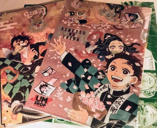 東京都お台場・「アクアシティお台場」で購入したジャンプショップの「鬼滅の刃」グッズ