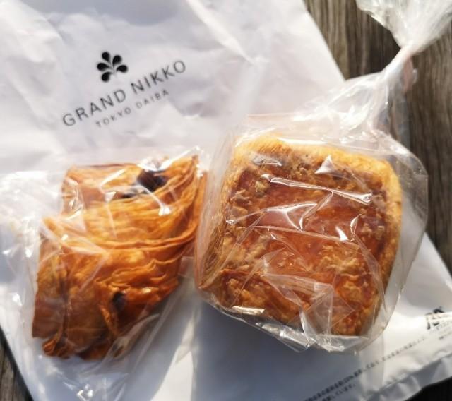 東京・お台場・グランドニッコー東京 台場「ベーカリー&ペストリーショップ」で購入したパン