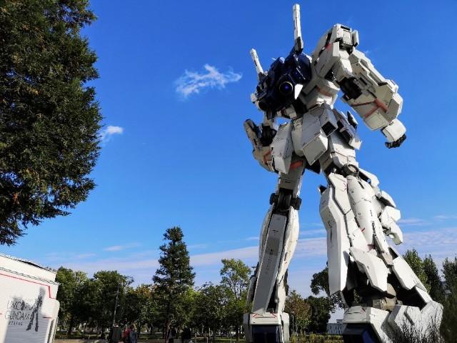 東京都お台場・「ダイバーシティー東京 プラザ」のユニコーンガンダム立像