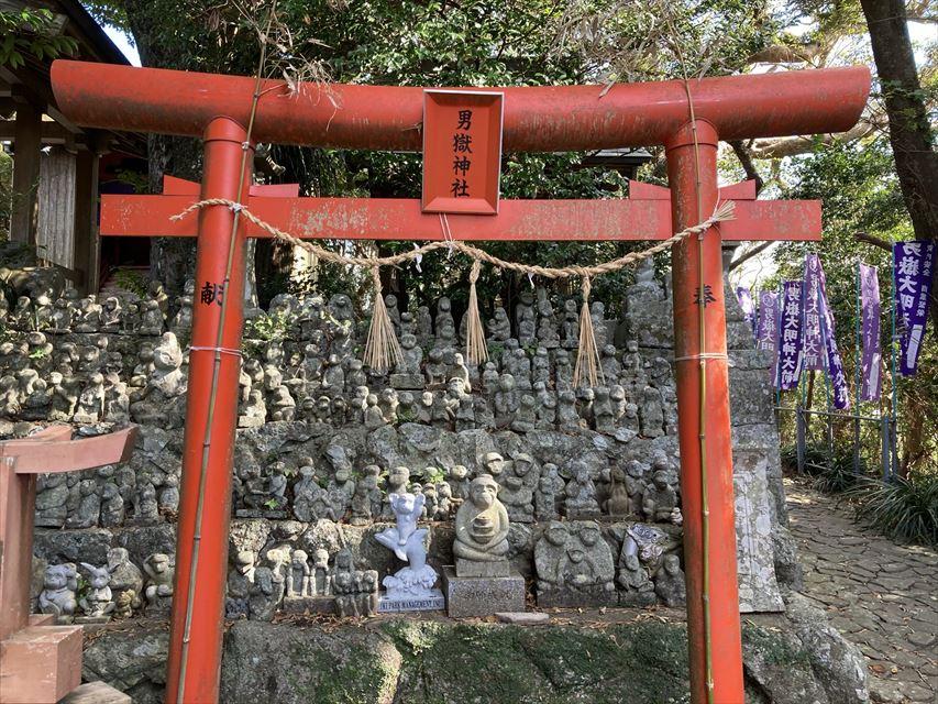 男嶽神社 石猿