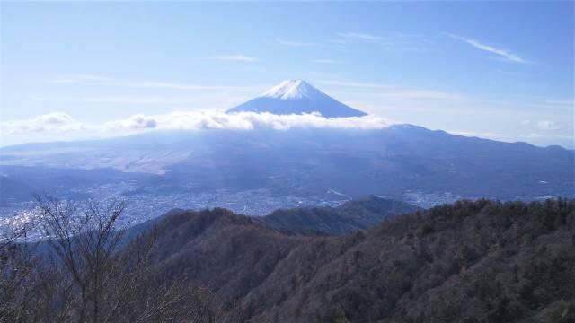 真正面から富士山