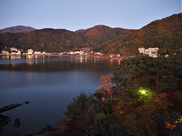 河口湖夕景