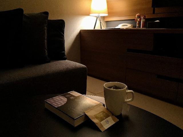 東京・「ホテル龍名館東京」ほうじ玄米茶
