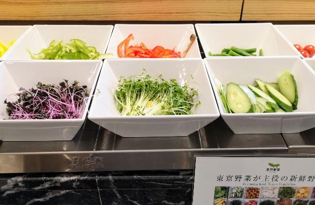 東京・「ホテル龍名館東京」花ごよみ東京(朝食・東京ブッフェ)サラダバー
