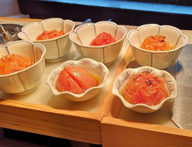 東京・「ホテル龍名館東京」花ごよみ東京(朝食・東京ブッフェ)トマトの丸焼き