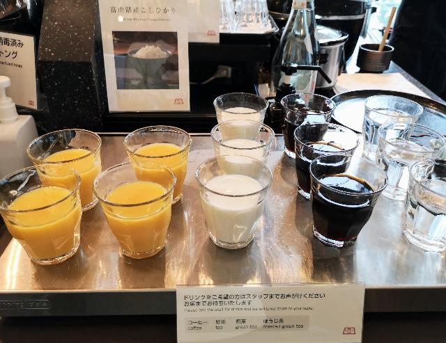 東京・「ホテル龍名館東京」花ごよみ東京(朝食・東京ブッフェ)アイスドリンク